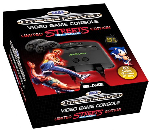 Sega Megadrive 2 Player Console with 10 Games built-in: Streets Of Rage - Special Edition