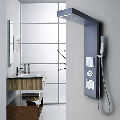 KES X6607-P European Style Bathrube & Shower System Rainfall Shower ...