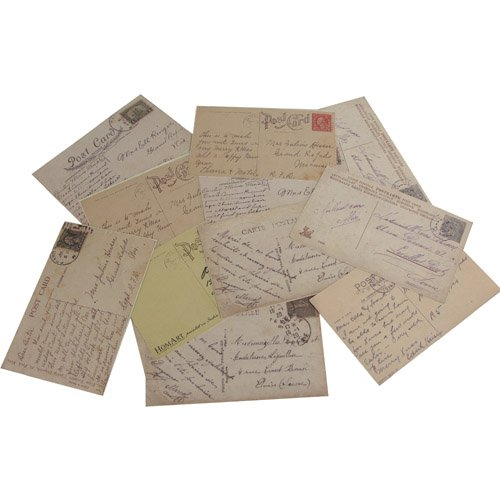 Vintage Ephemera Pack of 12 Postcards