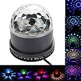 HociTech RGB LED Disco Kristallkugel DJ Bühnenbeleuchtung Dynamic Effekt mit