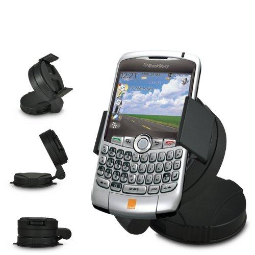 ONX3 Universelle UniSuction 360 In Car Windschutzscheibe Saug-Halter Halterung für BlackBerry Curve 8310
