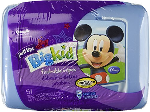 Huggies Pull-Ups Big Kid Flushable Wipes, 51 count (Pack of 2) - 1