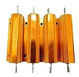 メタルクラッド 抵抗 ウインカー ハイフラッシュ 防止 100W 4Ω 4個 セット