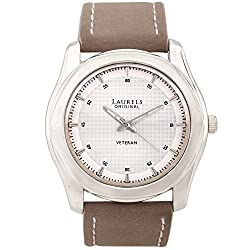 Laurels Veteran 3 Analog White Dial Mens Watch ( Lo-Vet-301)