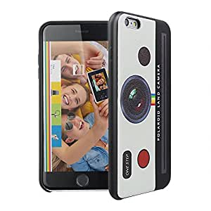 Polaroid Soft PU Case for iPhone 6 Plus /6s Plus5.5 inch with Premium Microfiber inner Full with Shockproof Scratch Protected Black-White