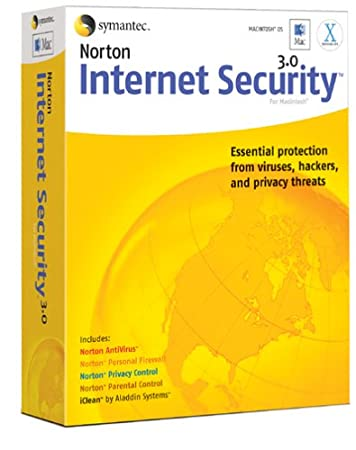 Norton Internet Security Mac 3.0 [AntiVirus, Firewall, Privacy, Controls, iClean]