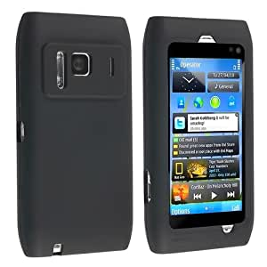 Black Silicone Skin Soft Case for Nokia N8