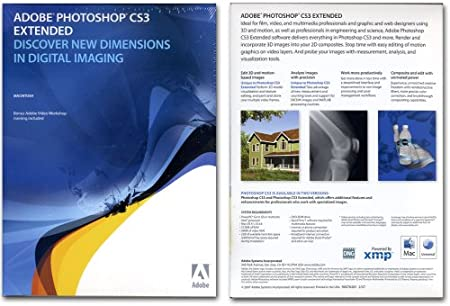 Adobe Photoshop Extended CS3 V10 Mac Retail