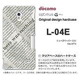 docomo Optimus G Pro L-04E ケース Optimus G Pro L-04E カバー ケース・ジャケット【ニュースペーパー2(A)/l04e-M774】