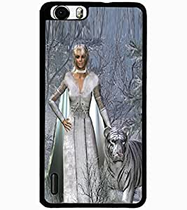 ColourCraft Princess and Tiger Design Back Case Cover for HUAWEI HONOR 6 PLUS