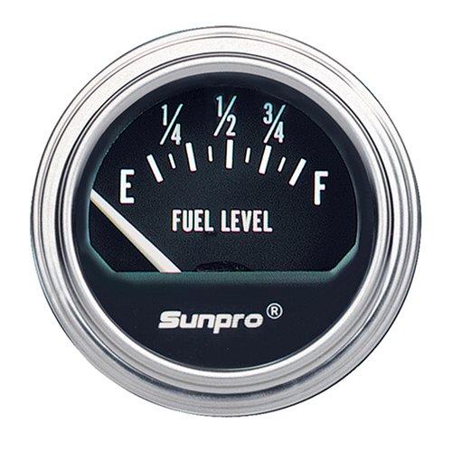 Sunpro CP7950 Electrical Fuel Level Gauge - Black Dial