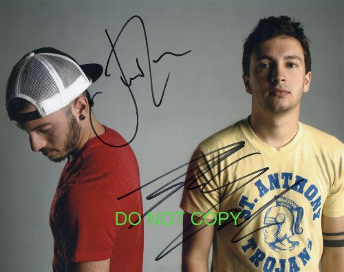 Twenty One Pilots band reprint signed promo photo by both #2 RP