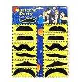 chinkyboo Paquete de 12 auto-adhesivo Surtido Partido falso bigote / Bigote Set disfraces de cumpleaños con estilo