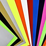 "Newcomdigi Heat Transfer Vinyl Sheets 12"" x 10"" Heat Transfer Vinyl for T Shirts, Hats, Clothing for Heat Press Machine"