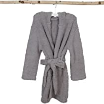 Barefoot Dreams CozyChic Toddler/Kids Cover-up Robe, Dove, Size: 6T-8T