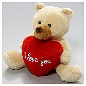 peluche ours en peluche avec beige de coeur 13cm jouet jeux et jouets. Black Bedroom Furniture Sets. Home Design Ideas