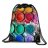 FUNKYLICIOUS Drawstring Polyester Paint Box Design (Multicolour)
