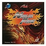 Stag Ninja Fire Table Tennis Rubber (Black)