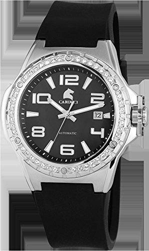 Carucci Watches CA2213BK - Reloj para mujeres, correa de goma color negro