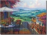 """""""Tuscany Forever"""" by Mikki Senkarik - Ceramic Tile Mural 12.75"""" x 17"""" Kitchen Shower Backsplash"""