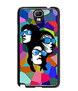 Fuson Multicolor Pattern Girls Back Case Cover for SAMSUNG GALAXY NOTE 3 NEO - D3757