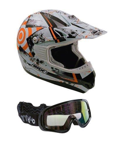Enduro casque Box-MX-5 casque motocross XS Orange (Orange lunettes)