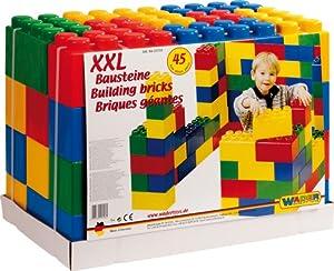 wader 10556 xxl bausteine 45 elemente spielzeug. Black Bedroom Furniture Sets. Home Design Ideas