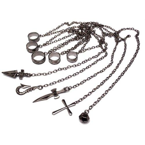 【完全版・五指の鎖の説明書付】 クラピカ 五指の制約の鎖 HUNTER×HUNTER コスプレ道具