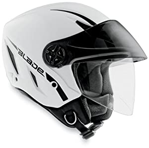 AGV Blade Solid Helmet , Size: Md, Primary Color: White, Distinct Name: White, Helmet Category: Street, Helmet Type: Open-face Helmets, Gender: Mens/Unisex 042154A0001007