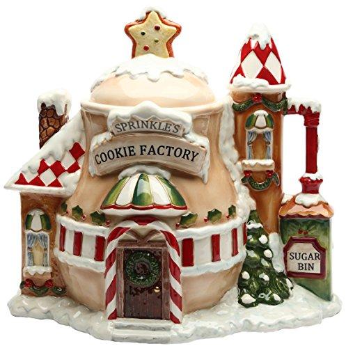 Santa's Village Christmas Cookie Jar