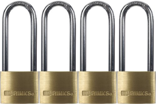 Brinks 161-42401 1-9/16-Inch 40mm Solid Brass Padlock with 2.5-Inch Shackle, 4-Pack (Brink Merchandise compare prices)