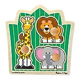 SABLON 3375  - Melissa & Doug - Puzzle Selva Jumbo plug Animales (3 piezas), 3 piezas