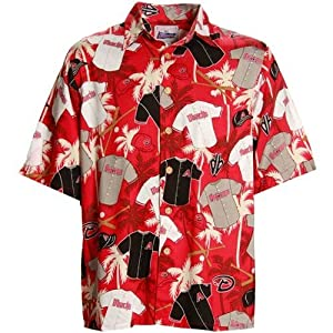 Arizona Diamondbacks Red Scenic Print Hawaiian Style Polo (XXX-Large)