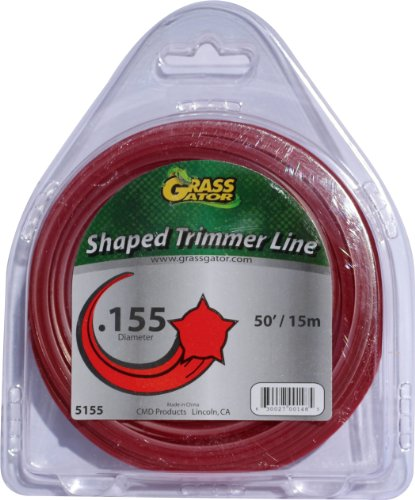 Grass Gator 5155 Trimmer Line For Gas Or Electric Trimmers, 50-Feet 0.155-Inch
