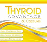 Thyroid Advantage - Thyroid Supplement Formulated With Iodine (from kelp), Selenium, L-Tyrosine, Bladderwrack, and More To Help Increase Energy, Boost Metabolism, and Aid Weight Loss