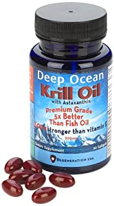 Regeneration USA Deep Ocean Krill Oil with Astaxanthin, 1 Ounce