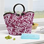 Nantucket Insulated Designer Bag with Ice Pack - Pink & White Floral