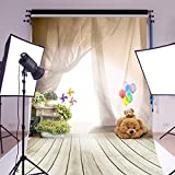 Mohoo 3x5ft Bear Ballon Children Wooden Floor Photography Backdrops Photo Props Studio Background