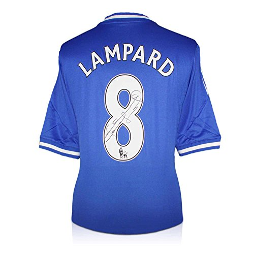 Frank Lampard Signed Chelsea 2013-14 Jersey   Autographed Soccer Shirt