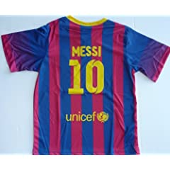 Buy 2013 2014 FC BARCELONA HOME MESSI 10 FOOTBALL SOCCER KIDS JERSEY by FCB