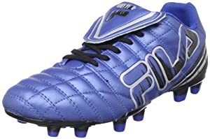Fila Men's Soundwave Soccer Shoe,Black/Metallic Silver/Turkish Sea,10 M US