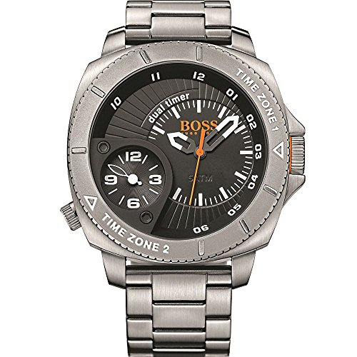 Boss Orange Men's Watch Sao Paulo Dual Time Analogue Quartz Stainless Steel 1513211