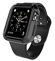 buy Apple Watch Case 42Mm, Sgm (Tm) Flexible Silicon Armor Full Body Case Cover For Apple Watch 42Mm (For 42 Mm Apple Watch Only) (Black)