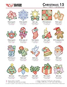 OESD Embroidery Machine Designs Christmas 15 #11831 by GERGORY