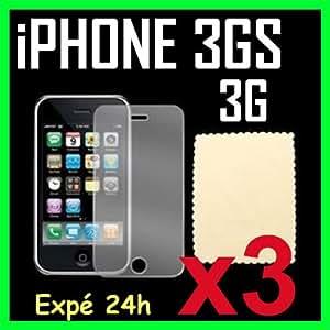 ScreenGUARD Film de protection écran pour APPLE IPHONE 3G 3GS PACK DE 3