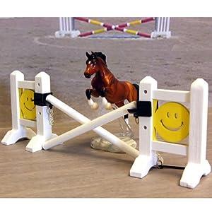 Intrepid International Miniature Wood Model Horse Jumps, Smiley Face