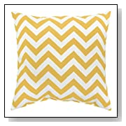 Yellow Zig Zag Accent Pillows Set of 2