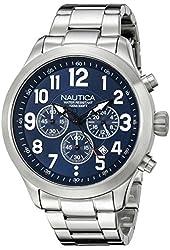 Nautica Men's NAD16516G NCC 01 CHRONO Analog Display Quartz Blue Watch