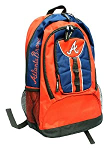MLB Atlanta Braves Colossus Backpack, Red by Concept 1
