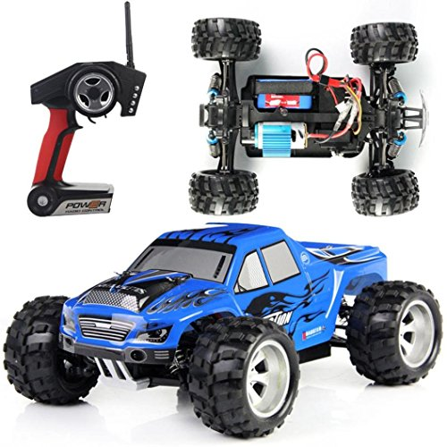 RC Car, Perman High Speed 45KM/H RC Car 1/18 Scale Topspeed Race Off-Road Cars 4WD Models 2.4G Remote Control Stunt Cars A979 Blue